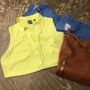 Yellow Blouse Tank Top